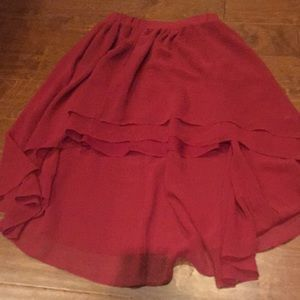 Urban Outfitters Red Hi-Lo skirt